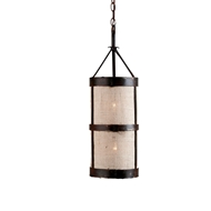 Lowcountry Originals Burlap Lantern Chandelier