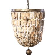 Lowcountry Originals Pendant Shell Bell Chandelier