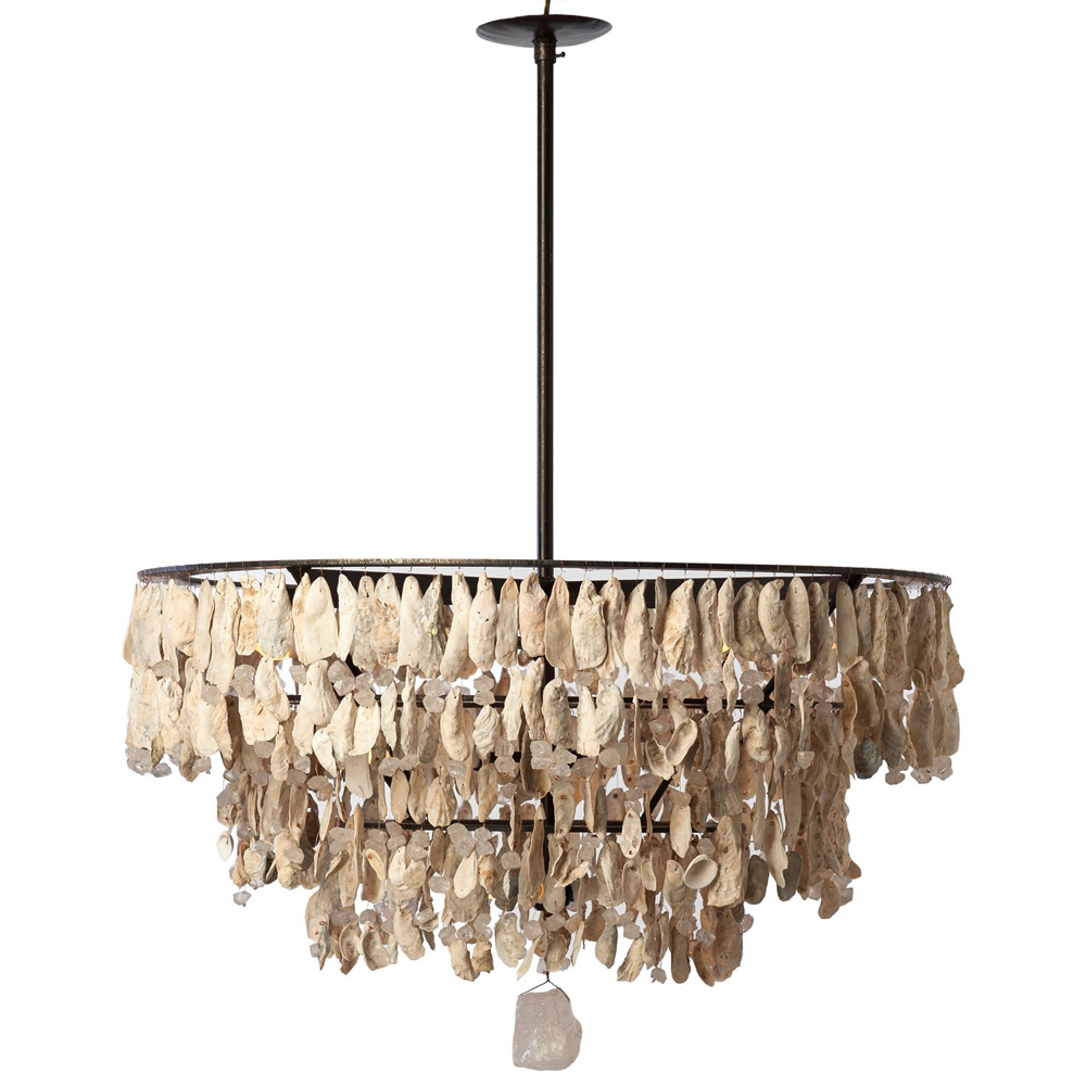 3 Tier Shell Chandelier Made In Usa Lowcountry