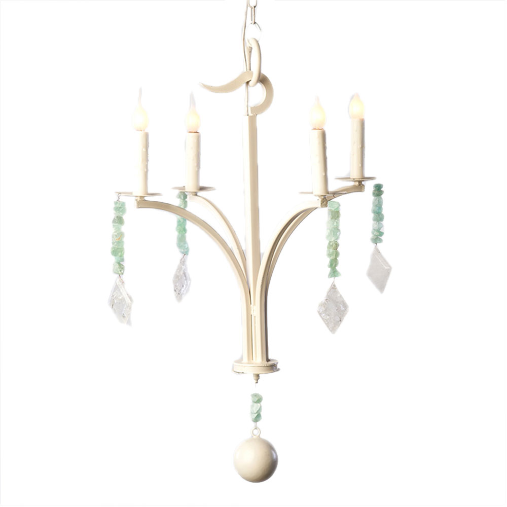 Single Tier In Solid White Chandelier Made In Usa