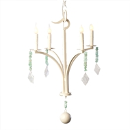Lowcountry Originals Single Tier in Solid White Chandelier