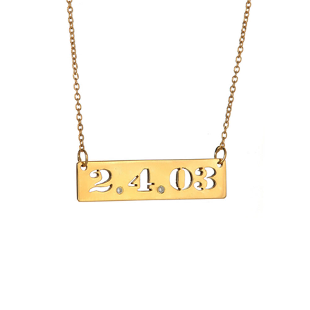 Maya j jewelry silver small date cut out pendant necklace w ms4999 small date cut out with diamonds on chain pendant necklace gold audiocablefo