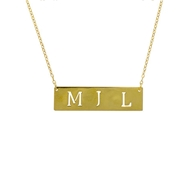 MG5001 Initial Cut Out on Chain 14k Pendant Necklace Gold