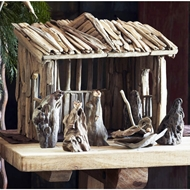 Roost Home Furnishings : Driftwood Creche : Holiday Decor