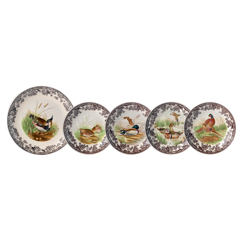 Spode Woodland Birds Pasta Bowl Set  sc 1 st  Peace Love \u0026 Decorating & Spode Woodland Bird Dinnerware | Portmeirion Spode 5-Piece Assorted ...