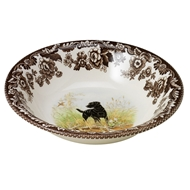 Black Lab Cereal Bowl from Woodland Hunting Dogs Collection