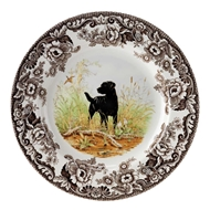 Black Lab Dinner Plate from Woodland Hunting Dogs Collection