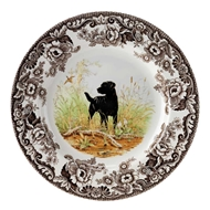 Black Lab Salad Plate from Woodland Hunting Dogs Collection