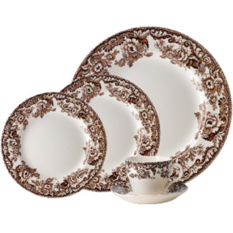 5 Piece Delamere Place Setting from Woodland Delamere Collection  sc 1 st  Peace Love u0026 Decorating & Spode Woodland Delamere dinnerware | Portmeirion Spode 5-Piece Place ...