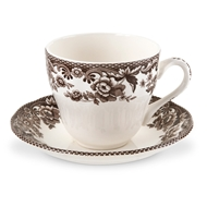 Delamere Teacup and Saucer from Woodland Delamere Collection