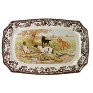 Dogs Rectangular Platter from Woodland Hunting Dogs Collection