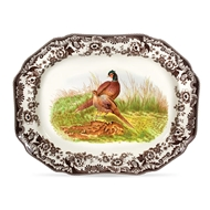 Hexagonal Pheasant Platter from Woodland Collection