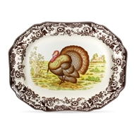Hexagonal Turkey Platter from Woodland Collection