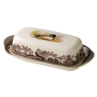 Mallard Covered Butter Dish from Woodland Collection