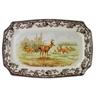 Mule Deer Rectangular Platter from Woodland Wildlife Collection