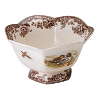 Pintail Hexagonal Footed Bowl from Woodland Collection