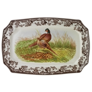Rectangular Pheasant Platter from Woodland Collection