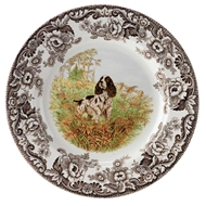 Spaniel Dinner Plate from Woodland Hunting Dogs Collection