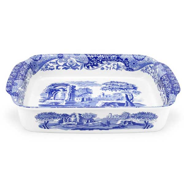 Spode Blue Italian Rectangular Dish  sc 1 st  Peace Love u0026 Decorating & Portmeirion Spode Blue Italian Dinnerware | Portmeirion Spode ...