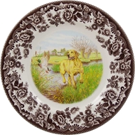 Yellow Lab Salad Plate from Woodland Hunting Dogs Collection