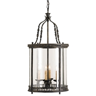 Currey Light Fixtures - 9046 Grayson Lantern - Iron/Glass Lantern