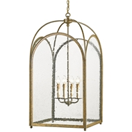 Currey Light Fixtures - 9075 Loggia Lantern Large -Iron/Glass Chandeliers