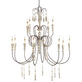 Currey & Company Lighting Hannah Chandelier Large