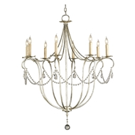 Currey & Company Lighting Crystal Light Chandelier Large