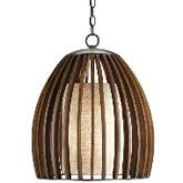 Currey Light Fixtures - 9099 Carling Pendant - Wood & Iron Pendant