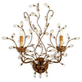 Currey & Company Lighting Crystal Bud Wall Sconce