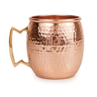 Abigials Elements Copper Hammered Moscow Mule Mug - Set of 4